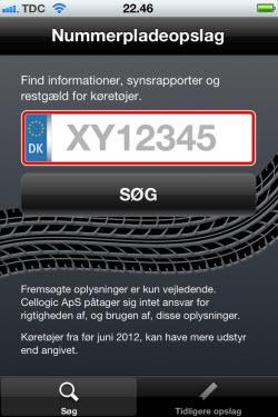 nummerplade app
